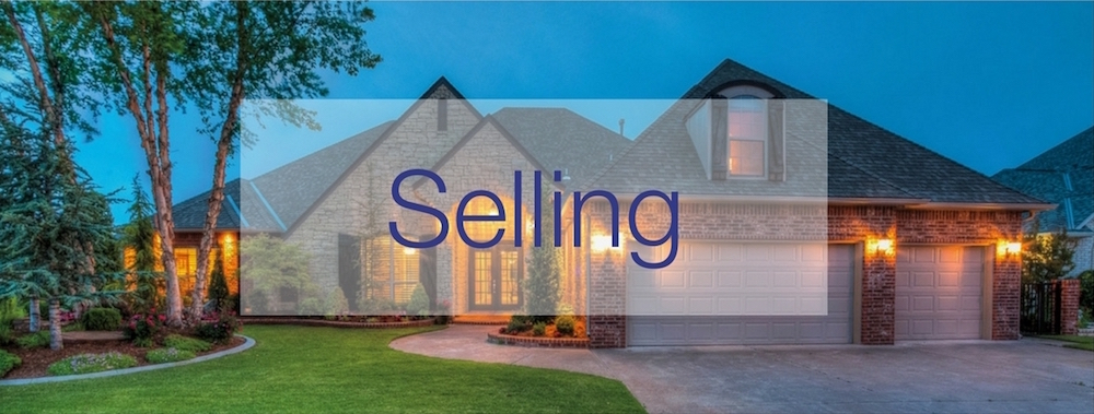 featured header image for selling - home exterior at twilight