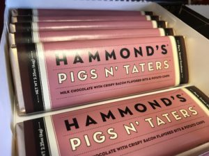 Hammond's Pigs 'n Taters candy bar at Sadie J's Popcorn Shoppe