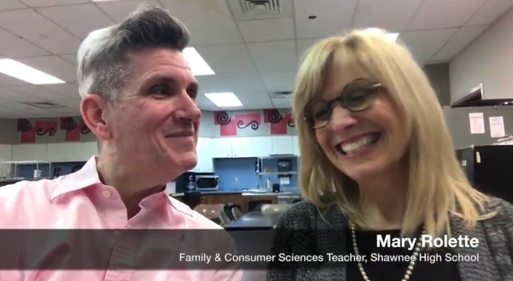 Shawnee High School Family and Consumer Sciences Teacher Mary Rolette and Steve Reese