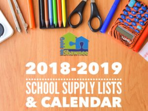 2018-2019 School Supply Lists and Calendar for Shawnee Public Schools