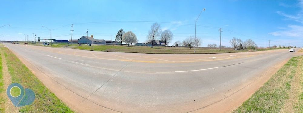 Front panoramic view of 5110 N Harrison commercial property 7+ acres just north of Interstate 40.