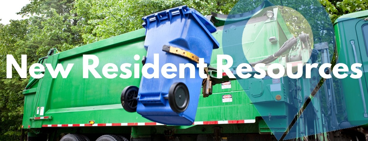 garbage truck picking up a residential cart