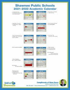 2021-2022 Shawnee OK Public Schools Academic Calendar